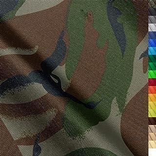 1buy3 Monaco Wasserdichter Polyester Stoff | 12.000 mm Wassersäule | Farbe 20 | Camouflage | Polyester Stoff 160cm breit Meterware wasserdicht Outdoor extrem reissfest