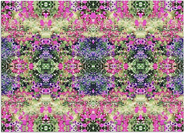 KESS InHouse CG1010ADM02 Carolyn Greifeld Cascade Reflections Multicolor Abstract Dog Place Mat, 24 x15
