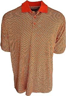 Men's Silk & Cotton Blend Knit Polo Golf Shirt