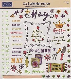 Karen Foster Design - Calendar Creations - Rub Ons - Doodle - May Rub-ons for Scrapbooking (04130)