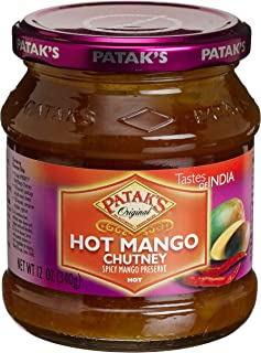 Patak's Hot Mango Chutney, 12 Ounce (Pack of 6)