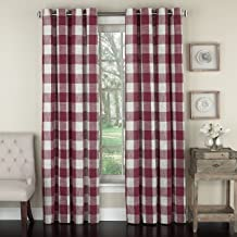 Lorraine Home Fashions 09570-63-00148 RED Courtyard Grommet Window Curtain Panel, Red, 53