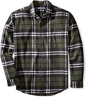 Amazon Essentials Men's Regular-Fit Long-Sleeve Flannel Shirt