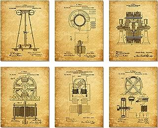 Nikola Tesla Patent Art Prints - Set of Six Patent Prints