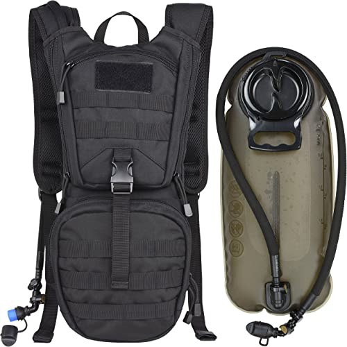 MARCHWAY Tactical Molle Hydration Pack Backpack with 3L TPU Water Bladder, Military Daypack for Cycling, Hiking, Runn...
