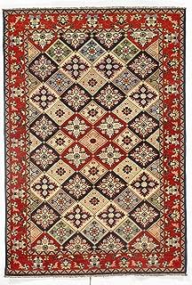 Pasargad DC Pak Kazak Lamb's Wool Rug - 4' X 6',Ivory, Pakistan