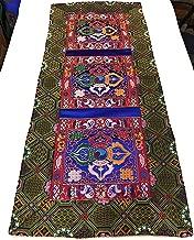 Tibetan Blue Double dorje Silk Brocade Table Runner/Shrine Cover/Altar Cloth/Table Cover