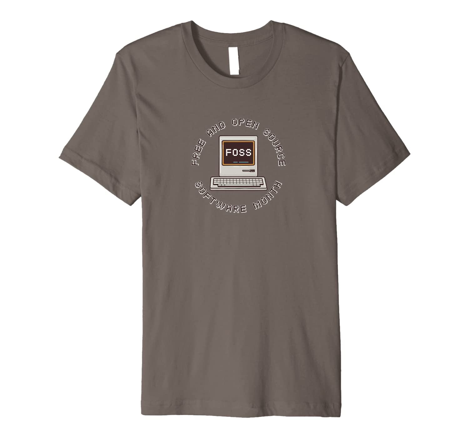 Amazon Com Free And Open Source Software Month Premium T Shirt Clothing
