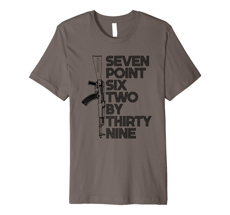 7 62x39 Seven Point Six Two By 39 Ak47 Rifle Shirts