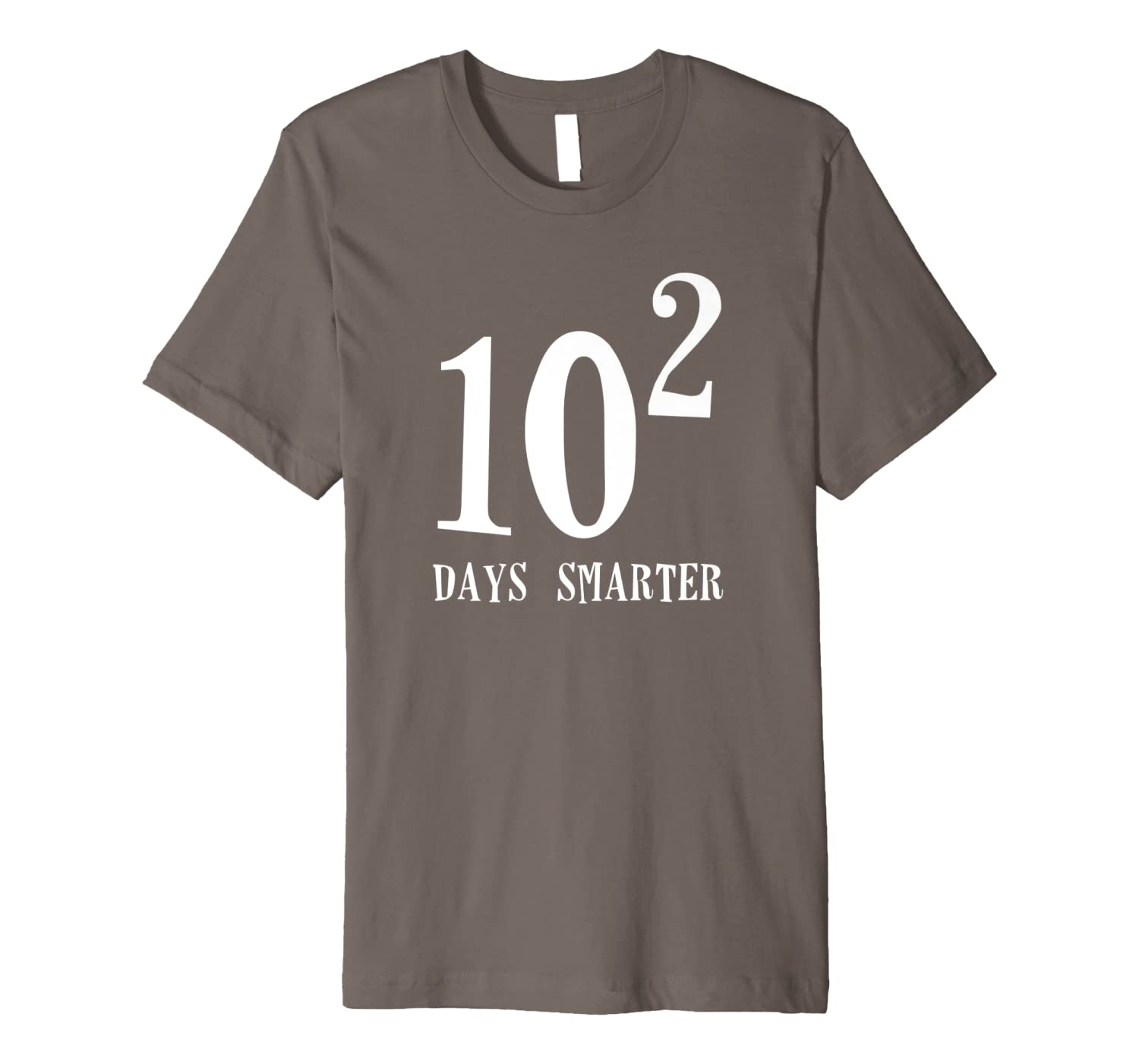 10 Squared 100 Days Smarter Funny Math 100th Day School Gift Premium T-Shirt