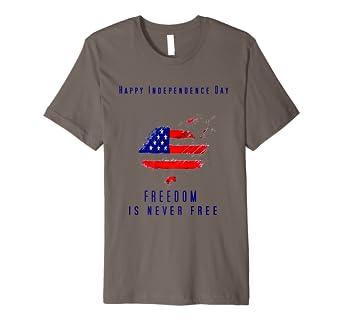Amazon.com: Libertad nunca es última intervensión TSHIRT ...