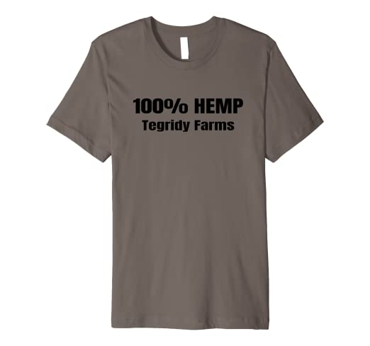 0f2eda92 Image Unavailable. Image not available for. Color: Funny 100% Hemp Tegridy  Farms Weed Farmer Gift T-shirt