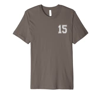 Amazon 15 Numbered Team Jerseys Shirt Birthday Age Year