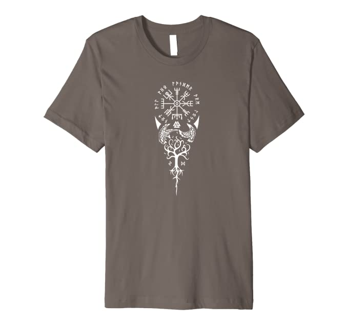 fdbe6be5 Amazon.com: Not All Who Wander Are Lost Symbolic Viking T-Shirt ...