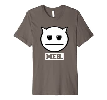 86fb2bb3 Image Unavailable. Image not available for. Color: Meh Funny Cat T-Shirt