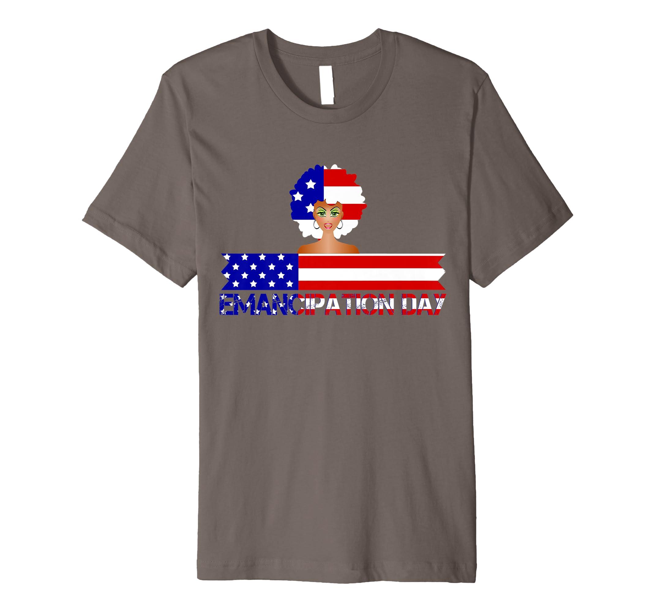 4th Of July Patriotic Emancipation USA Flag T-Shirt-SFL