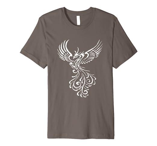 b4c0ab970 Phoenix Bird White Tribal Tattoo Design T-Shirt: Amazon.co.uk: Clothing