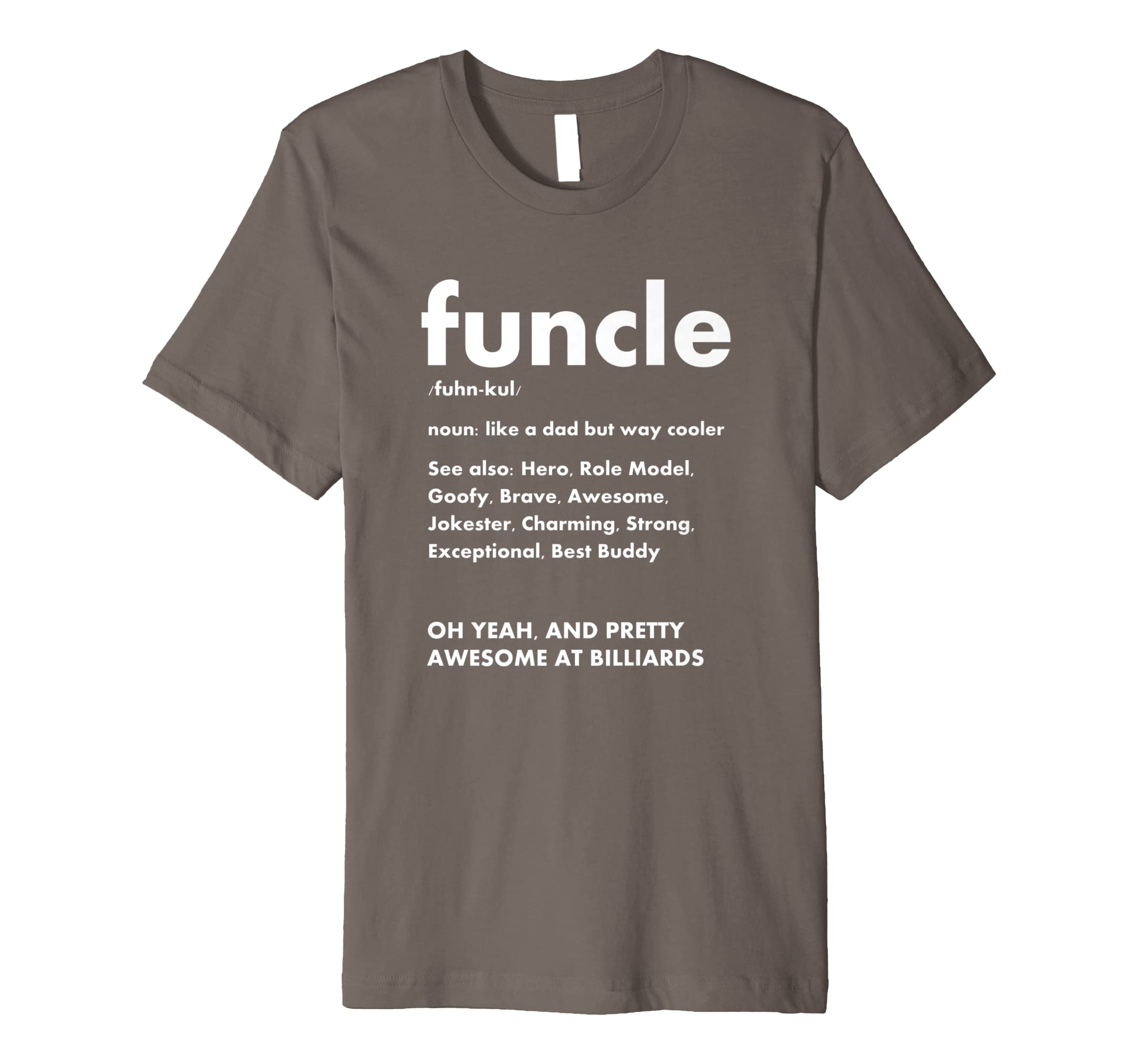bf287378 Amazon.com: Funcle Billiards Fun Uncle Definition Gift T Shirt: Clothing