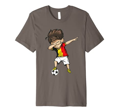 Image Unavailable. Image not available for. Color  Dabbing Soccer Boy Belgium  Jersey Shirt - Belgian Football a4638040b