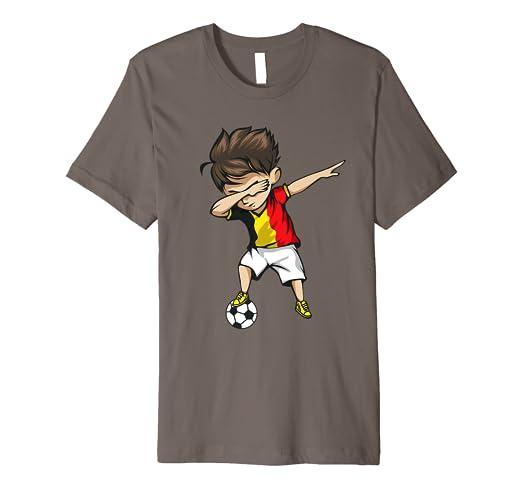 e102e8c05e3 Image Unavailable. Image not available for. Color: Dabbing Soccer Boy  Belgium Jersey Shirt - Belgian Football