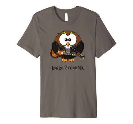 8c251cc0c Amazon.com: Classic Rock T Shirts - Long Live Rock and Roll Owl Shirt:  Clothing