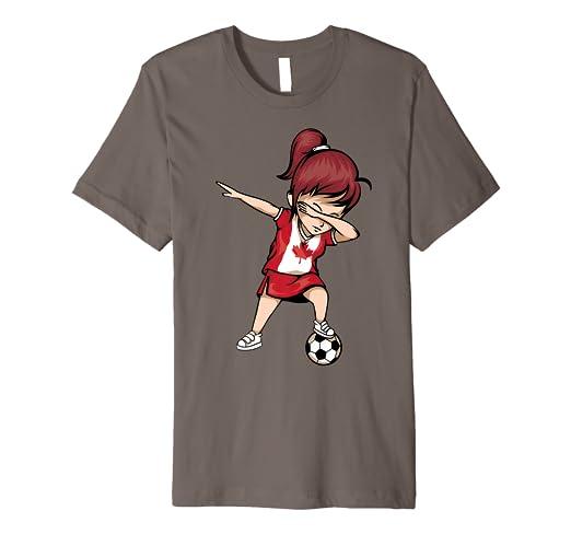 Amazon.com  Dabbing Soccer Girl Canada Jersey Shirt - Canadian ... b0fa6b65a