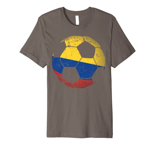 f3a07bf4a35 Image Unavailable. Image not available for. Color  Colombia Soccer Ball  Flag Jersey Shirt Colombian Football