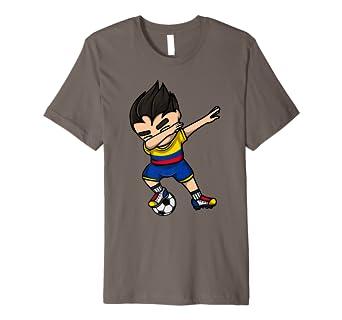 15d512d26d5c9 Amazon.com: Dabbing Soccer Boy Colombia Jersey Shirt Colombian ...