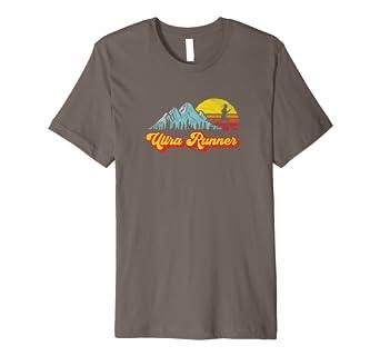 aa6180c309b Amazon.com: Ultra Runner - Retro Style Vintage Trail Running T-Shirt ...