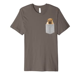 d91743a89b29d Amazon.com: Dog in Your Pocket Chinese Shar-Pei Fitted T-shirt: Clothing