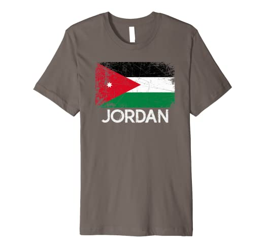 d2936554c04cd8 Amazon.com  Jordanian Flag T-Shirt