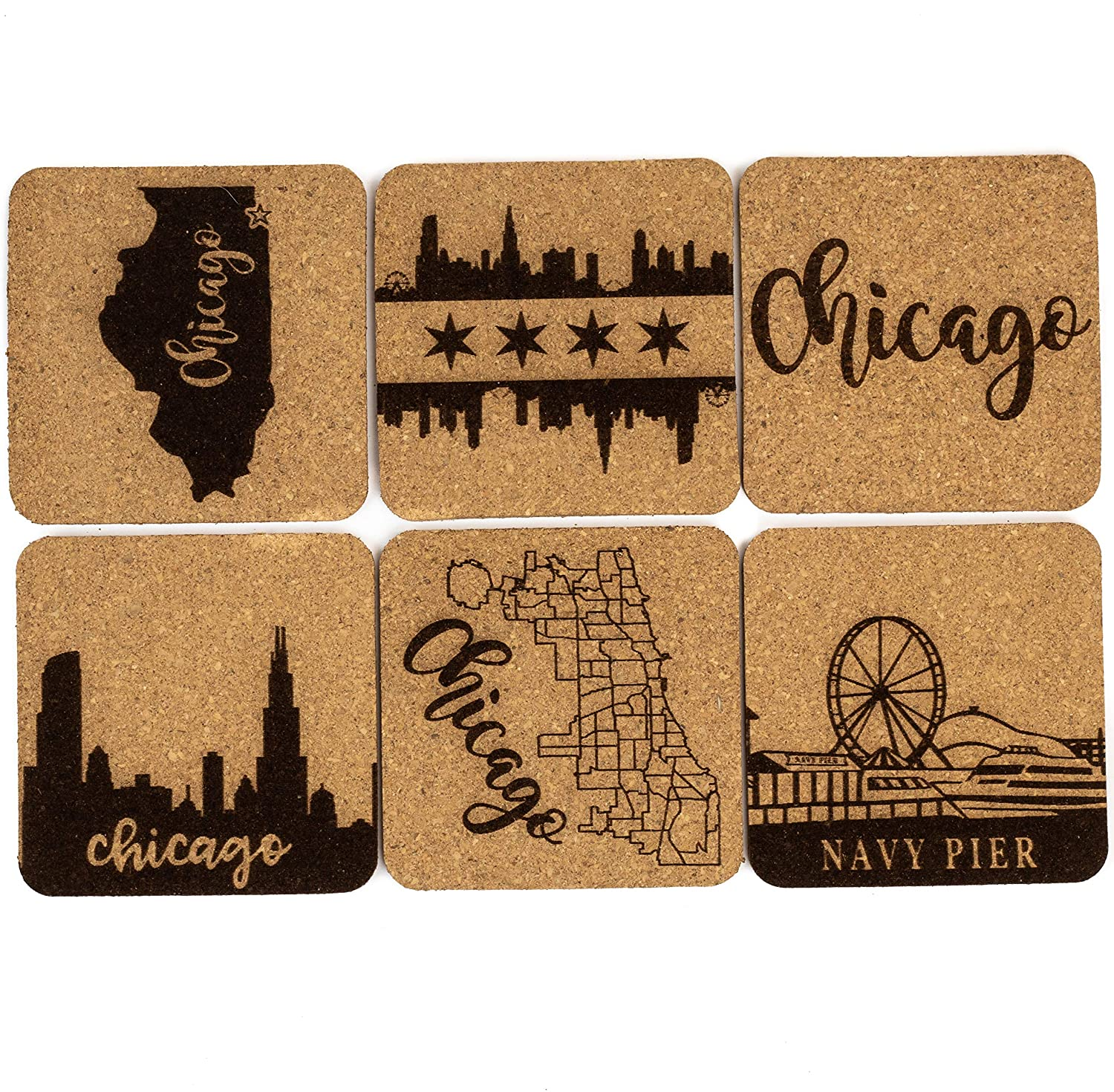 Chicago Arlington Limited time cheap sale Mall Coaster Set