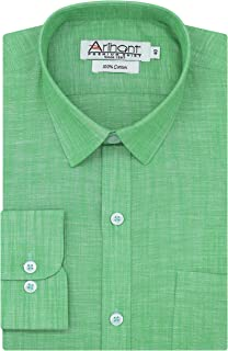 Arihant Plain Solid 100% Cotton Full Sleeves Regular Fit Formal Shirt for Men