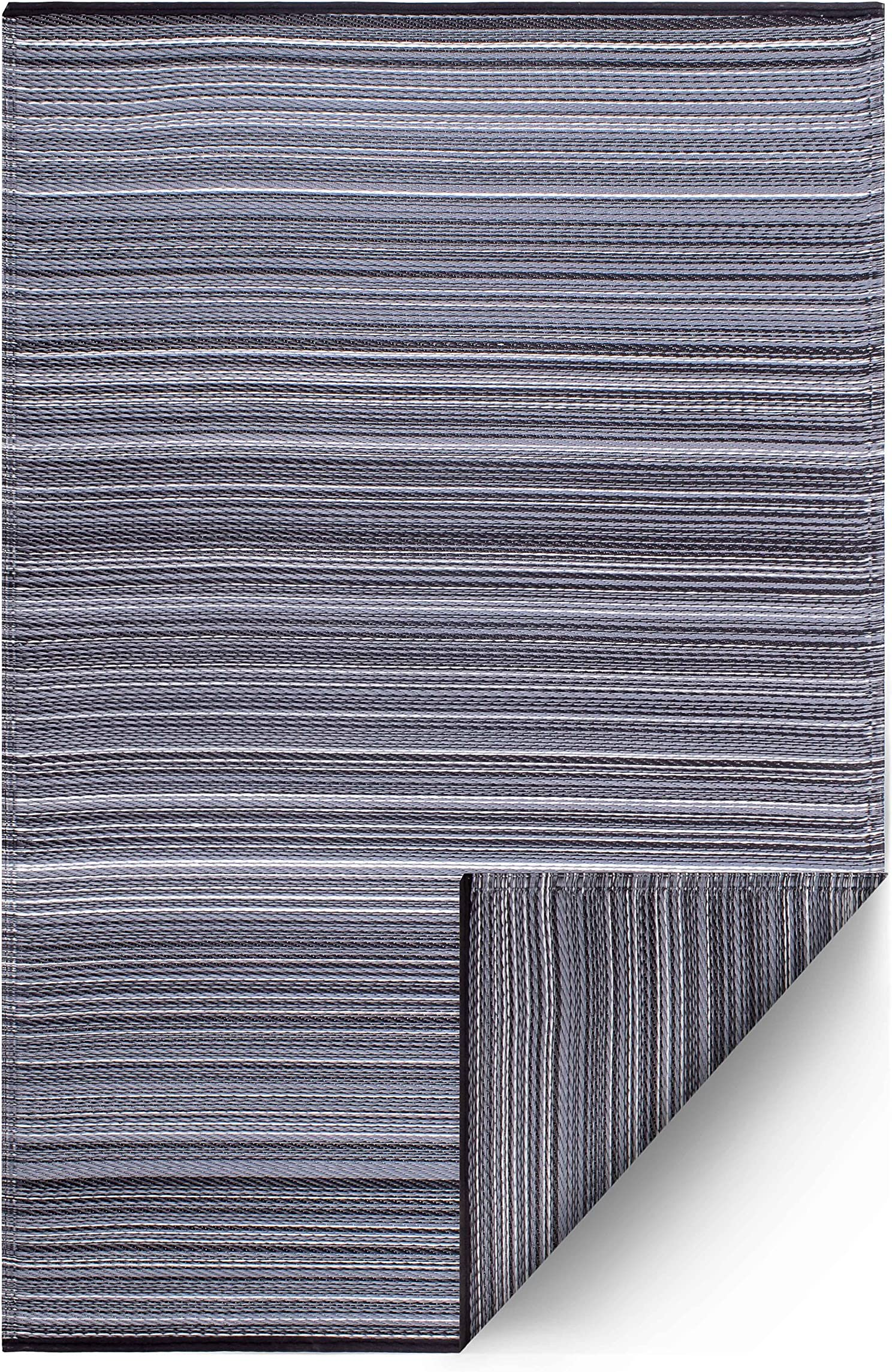 Fab Habitat Reversible Rugs | Indoor or Outdoor Use | Stain Resistant, Easy to Clean Weather Resistant Floor Mats | Cancun - Midnight, 6' x 9'