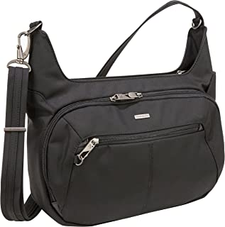 Travelon Anti-Theft Concealed Carry Hobo Bag, Black