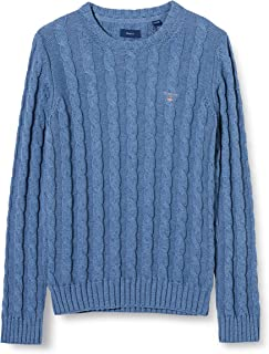 GANT Girl's Cotton Cable Crew