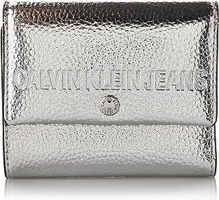 Calvin Klein Women's K60K606245 Scarf, Hat & Glove Set, Grey (Silver Pe), One Size (Size:OS)