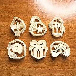 Animal Crossing juego de cortador de galletas, molde para cortar galletas, adecuado para galletas, pasta de azúcar, decora...