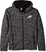 Ultra Game NFL Men's Sherpa Lined Full Zip Fleece Hoodie Sweatshirt