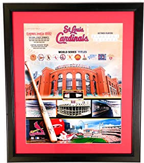AUTHENTIC APPAREL MLB St. Louis Cardinals Limited Edition 2005-2006 World Series Champions - 20x24 Framed Game Used Baseball Memorabilia