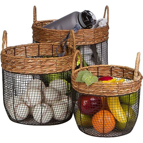 10ea5dade8 Wicker Garden Baskets with Handles: Amazon.com