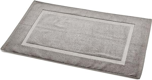 AmazonBasics Banded Bathroom Bath Rug Mat 20 X 31 Inch Grey