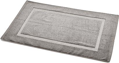 AmazonBasics Banded Bath Mat, 20 x 31 inch, Grey