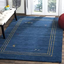 Safavieh Himalaya Collection HIM588A Blue and Multi Wool Area Rug (8' x 10')