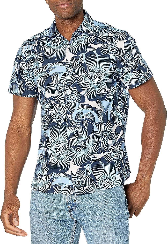 Perry Ellis Men's Tropical Floral Print Shirt