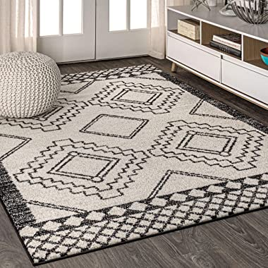 JONATHAN Y Amir Moroccan Beni Souk, Bohemian, Easy-Cleaning, for Bedroom, Kitchen, Living Room, Non Shedding Area-Rugs, 8 X 1