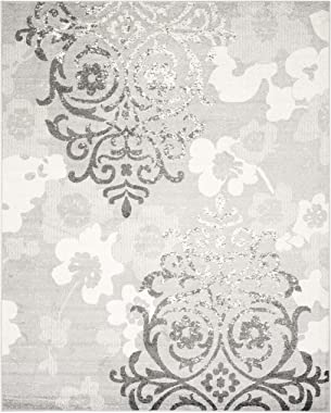 Safavieh Adirondack Collection ADR114B Floral Glam Damask Distressed Non-Shedding Stain Resistant Living Room Bedroom Area Ru