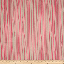 Andover Alison Glass Diving Board Seagrass on Tailored Cloth Linen, Peony