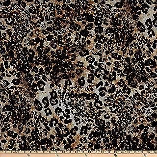 Telio Dakota Rayon Jersey Knit Animal Print Brown Fabric