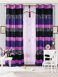 Mk Collection 2 Panel Curtains Teens/girls Zebra Leopard Purple Pink White Black